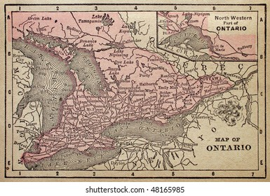 Canadian Province of Ontario, circa 1880. See the entire map collection: http://www.shutterstock.com/sets/22217-maps.html?rid=70583