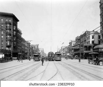 Canal Street, New Orleans, Louisiana, ca. 1907