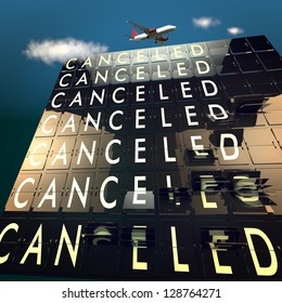 Canceled on a mechanical timetable on sky and plane