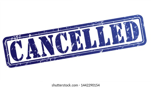 cancelled rubber stamp concept illustration isolated