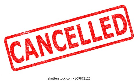 cancelled stamp on white background. cancelled stamp sign.