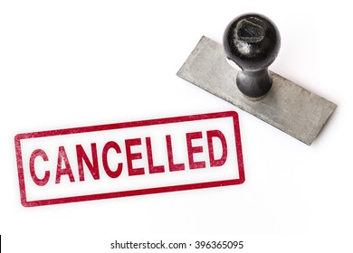 cancelled text sign label stamp.