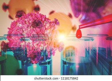 Cancer Cell Oncology Research Concept Gene Therapy for Cancer Treatment Concept Cancer therapy with T-cell Cure Oncology heal remission 3D rendering