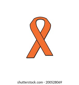 Cancer Ribbon - Leukemia