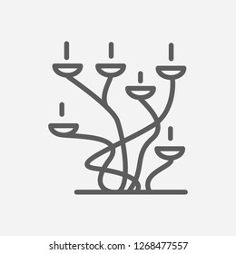Candelabrum icon line symbol. Isolated  illustration of candelabrum icon sign concept for your web site mobile app logo UI design.