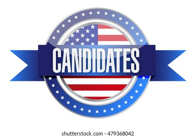 candidates seal illustration design over a white background