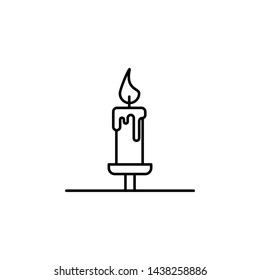 candle, death outline icon. detailed set of death illustrations icons. can be used for web, logo, mobile app, UI, UX