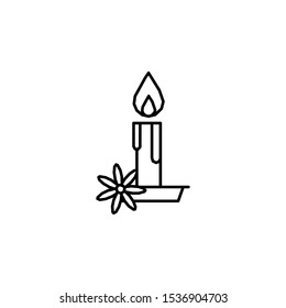 Candle, flower, flame icon. Element of Dia de muertos icon