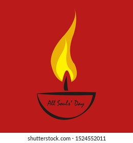 candle on All Souls ' Day