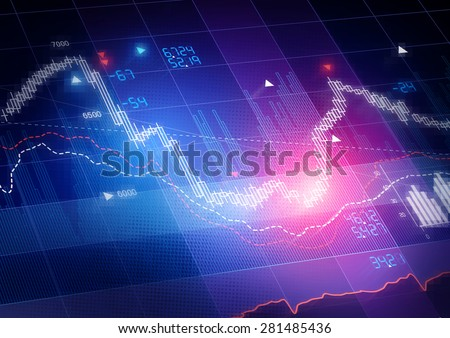 candle stick stock market tracking graphのイラスト素材 281485436