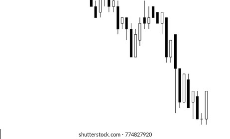 candlestick charts on dark blue background for stock trading or business ideas