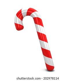 Candy cane. 3d illustration isolated on white background