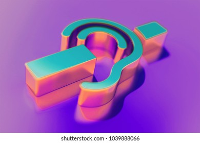Candy Color Deaf Icon on Purple Background With Soft Focus. 3D Illustration of Deaf, Disable, Disabled, Handicap, Mute, Silent Icon Set for Presentation.