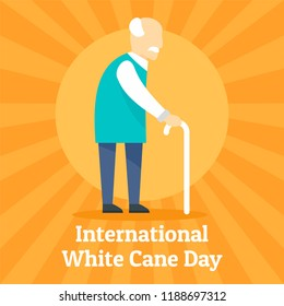 Cane day concept background. Flat illustration of cane day concept background for web design
