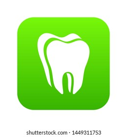 Canine tooth icon. Simple illustration of canine tooth icon for web
