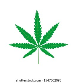 Cannabis leaf icon isolated on a white background
