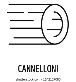Cannelloni pasta icon. Outline cannelloni pasta icon for web design isolated on white background