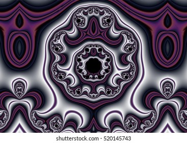Cannon Soul of a Smith & Wesson M29 Caliber 44 Magnum, Fractal Allegory, Silver and Dark Mauve Colors