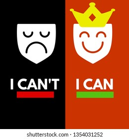 I can't I can qoute. I can do it. motivational qoute. t shirt print. motivational posters