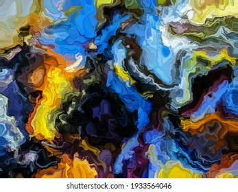 Canvas of artistic virtual paint for designs and decorated backgrounds