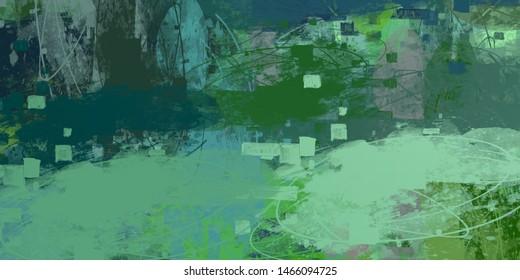 Canvas painting. Colorful background texture. 2d illustration. Texture backdrop. Creative chaos structure element.