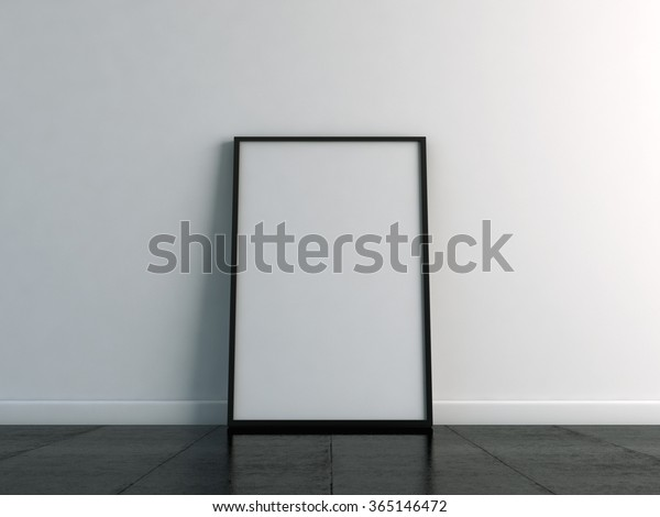 Canvas Template On Floor White Wall Stock Illustration 365146472
