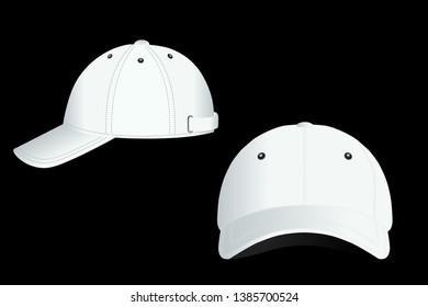 e222990a8d3f3 Cap isolated on dark background. simple style