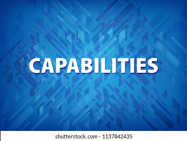 Capabilities isolated on blue background abstract illustration