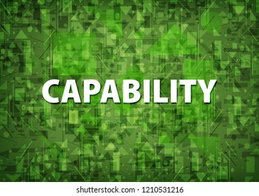 Capability isolated on soft green background abstract illustration