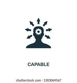 Capable icon. Premium style design, pixel perfect capable icon for web design, apps, software, printing usage.