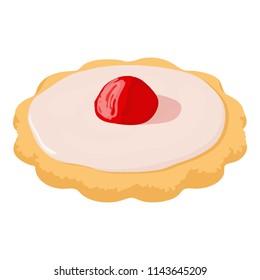 Capcake icon. Isometric illustration of capcake icon for web