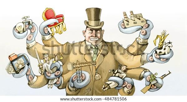 ein kapitalistischer Reich packt seine Tentakel so viele Bereiche der Gesellschaft