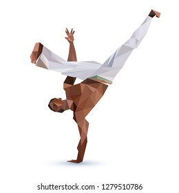 Capoeira Player Polygonal