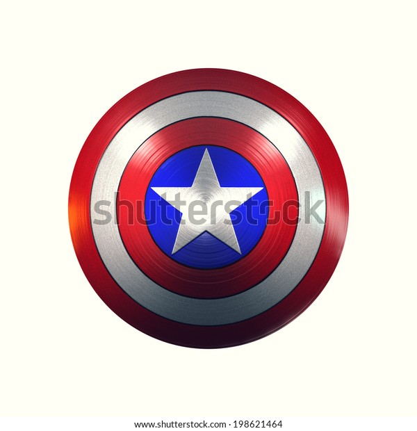 Captain America Shield Stock Illustration 198621464