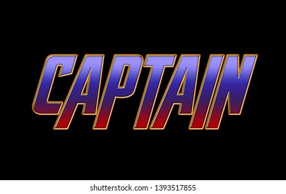 CAPTAIN RED BLUE YELLOW TEXT