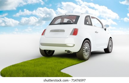 Car with alternative and renewable power for a clean ambient