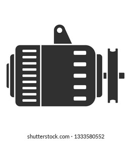 Car alternator icon. Simple illustration of car alternator icon for web design isolated on white background