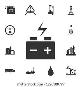 Car battery icon. Simple element illustration. Car battery symbol design from Petrol collection set. Can be used for web and mobile
