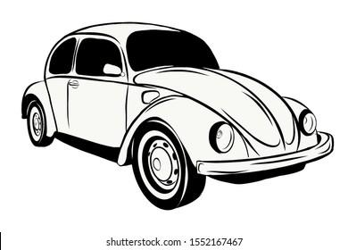 car beetle race technique drawing logo
