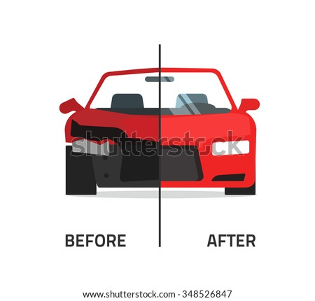Car Body Frame Repair Illustration Auto Stock Illustration 348526847 ...