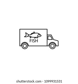 car carrying fish icon. Element of fishing industry icon for mobile concept and web apps. Thin line car carrying fish icon can be used for web and mobile. Premium icon on white background