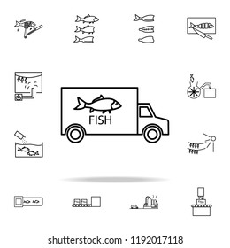 car carrying fish icon. fish production icons universal set for web and mobile