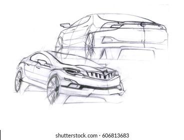 Car concept sketch
