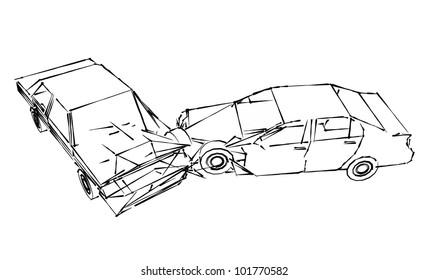 Car Accident Sketch Images Stock Photos Vectors Shutterstock