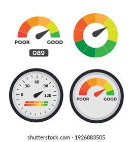 Car dashboard gauge. Speed meter . Arrow auto barometer