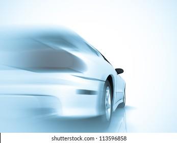 Car design background. 3D render.