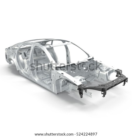 Car Frame Without Chassis On White Stock Illustration 524224897 ...