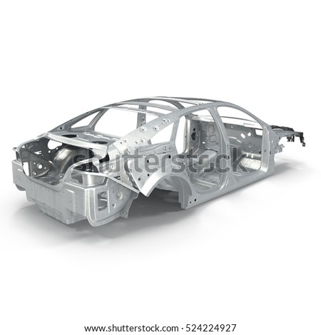 Car Frame Without Chassis On White Stock Illustration 524224927 ...