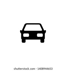 Car front simple icon. illustration