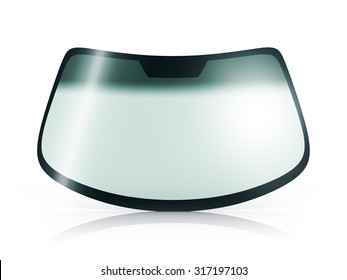 Car glass on white background (done in 3d)